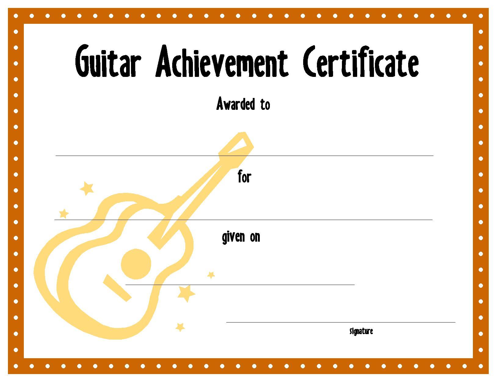 Iou Certificate Template
