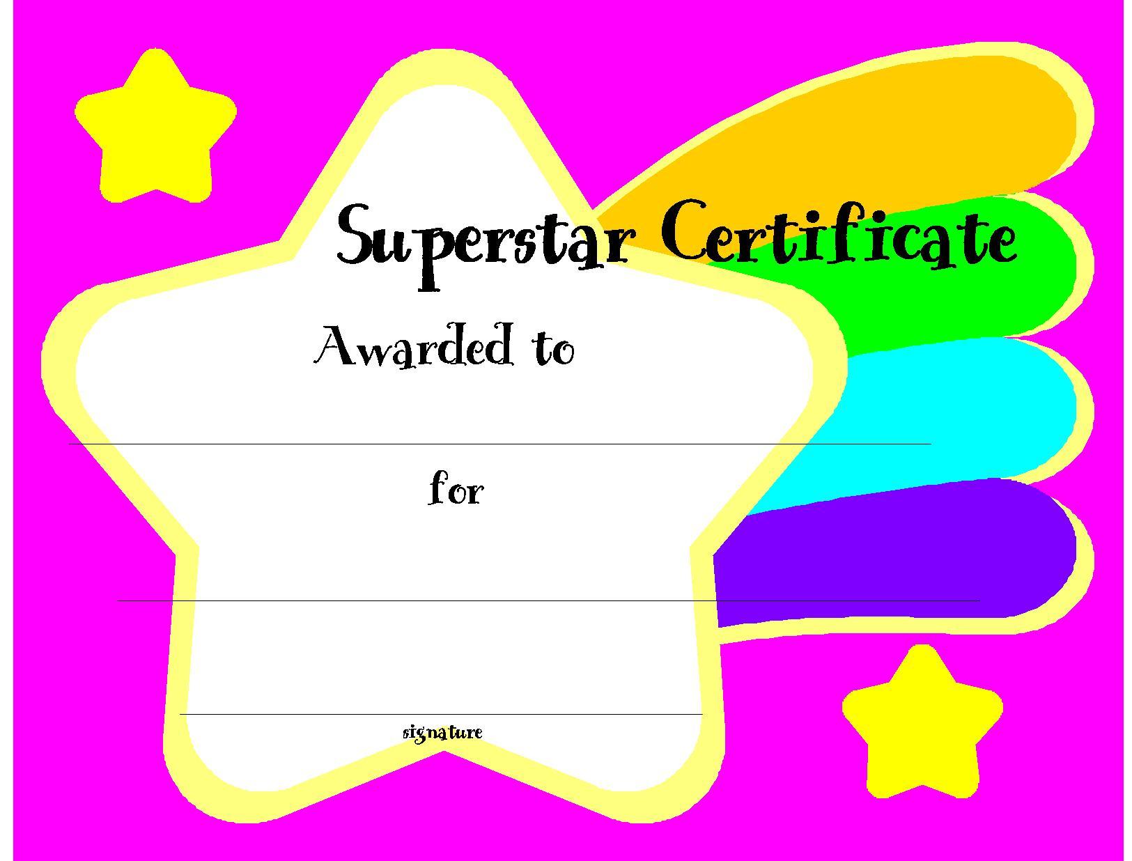 Free Printable Award Certificates for Kids  Enjoy 200