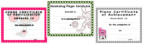at certificate templates for kids youll find free and fun printable certificate templates for kids of all ages from preschool and kindergarten to