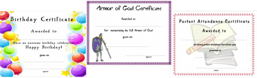 image about Vbs Certificate Printable identified as Certification Template for Children-Absolutely free Printable Certification
