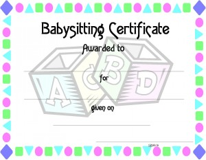 Random acts mother 39 s day and unique gifts on pinterest for Babysitting gift certificate template