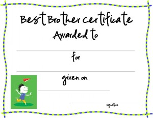best friend award printable