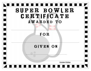 Certificate template for kids free printable certificate templates bowling certificate template yelopaper Images