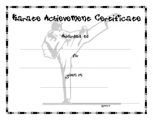 Certificate template for kids free printable certificate templates karate certificate template yelopaper Images