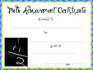 Certificate template for kids free printable certificate templates math certificate template yelopaper Images